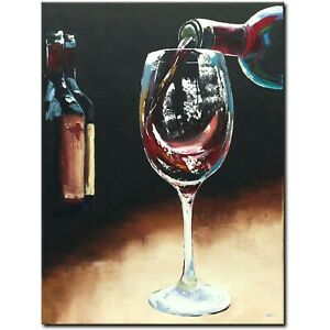Original-acrylic-picture-painting-abstract-painting-art-modern-unique-Art-Wine-Glass