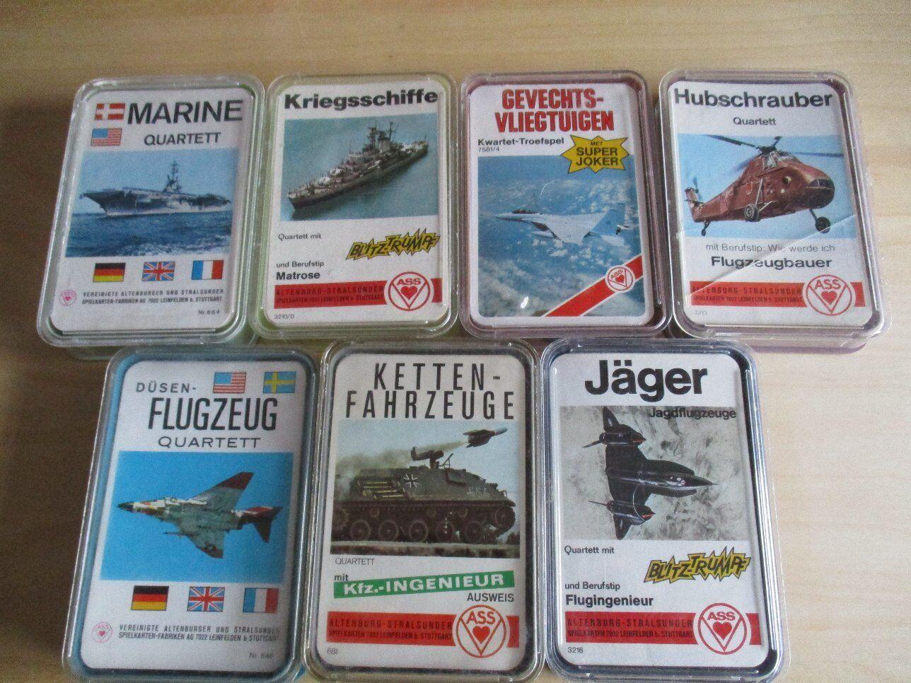 Avoir une maison, maison, maison, avoir de l'amour, as-tu 7 X militaire Quartette chars avions bateaux, etc. l'AAS collection 369519