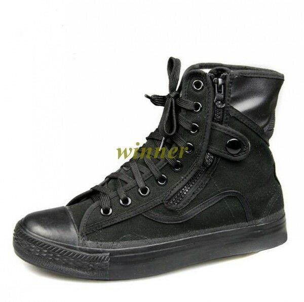 2017 Cool New Men's Canvas 100% Rubber Sole Military Tactical shoes Combat Boots
