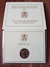 2 euro 2017 Vaticano San Pietro e Paolo folder official BU