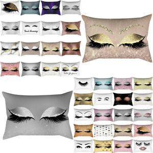 30x50cm Pink Golden Pillowcase Eyelash Out Soft Waist Cushion Cover Home Decor