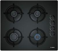 Black Ceramic Glass Gas Hob Bosch Pop6b6b10 Boxed