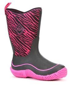 """The Original Muck Boot"" Kids Hale Pink Zebra Print KBH-4ZB"