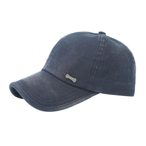 1PC Adjustable Unisex Sports Outdoor Plain Washed Cotton Baseball Cap Sun Hat