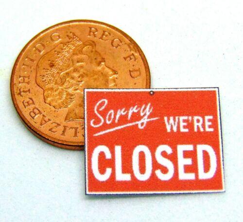 1:12 SCALA USO QUOTIDIANO /& tumdee segnaletica di sicurezza casa delle bambole negozio in miniatura Set