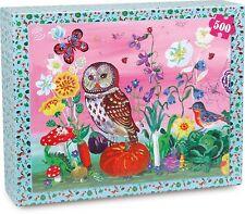 NEW Anthropologie Nathalie Lete Le Potager 500 Pc Puzzle Vilac Owl Bird Flowers