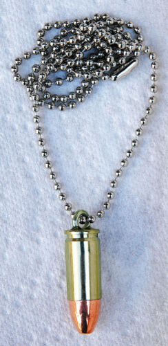 Halskette mit  Anhänger PATRONE Kaliber 9 mm modische Kette neu Modeschmuck