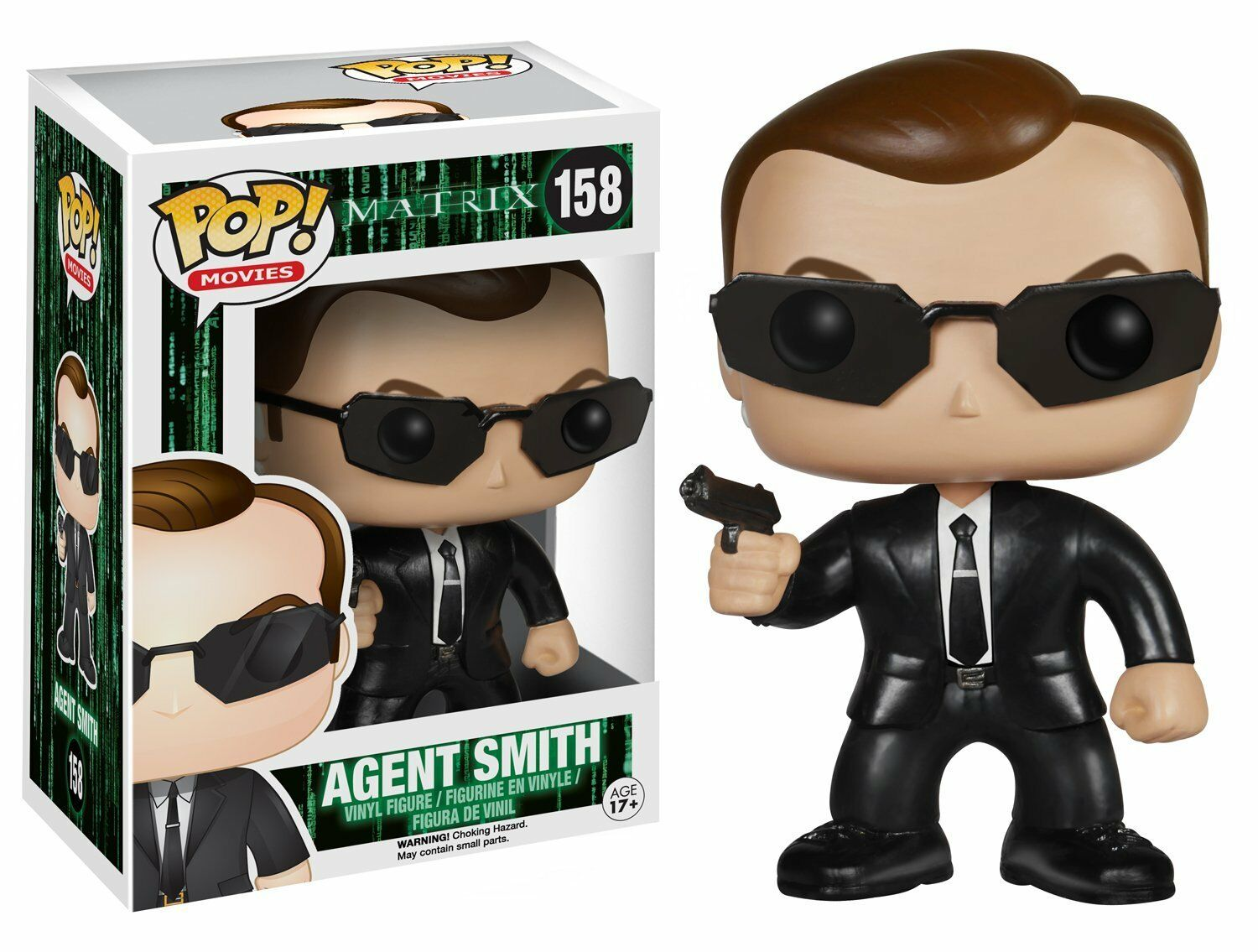 Agent smith hugo - matrix - pop filme   158 vinyl - bild funko