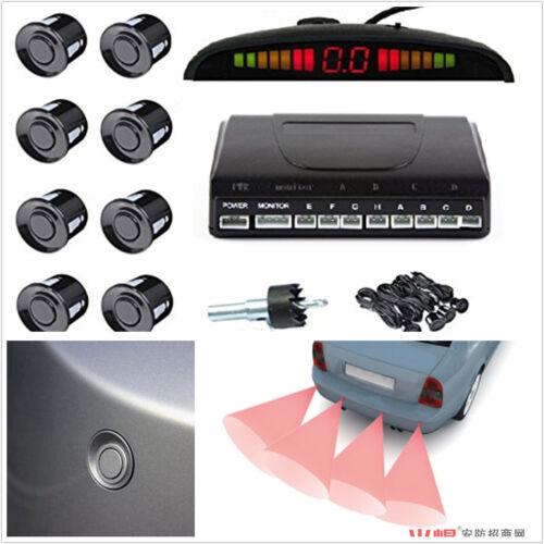 8 Sensors Buzzer Radar LED Display Audio Alarm Reverse Parking Radar Parktronic