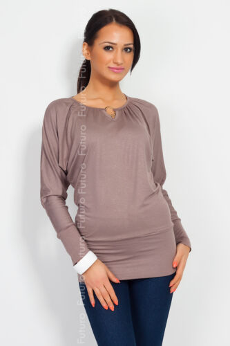 UK Classic Women/'s Blouse Girls Top with Golden Ring Batwing Style Kimono FB1002
