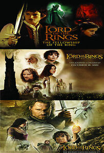 A2-laminated-LORD-OF-THE-RINGS-movie-poster-fellowship-two-towers-return-king