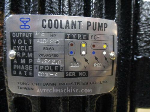 Yeong Chyung Coolant Pump Immersible Type 1 Ph 1//2HP 110//220V YC-2175-1 MC-2180