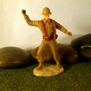 Original-Hausser-Elastolin-5-6cm-Steckfiguren-WWII-Deutscher-Soldat-Afrikakorps