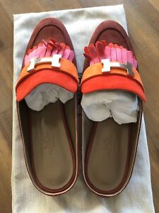 Sandals Shoes Flats 38 Shoes Hermes Loafer Mules Slipper Sandali Nuovo RFPf5x5w