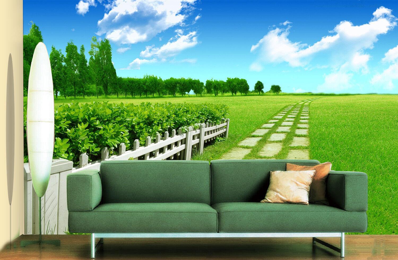 3D blueer Himmel Rasen 5 Tapete Tapeten Mauer Foto Familie Tapete Wandgemälde DE