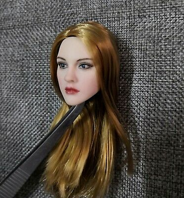 1//6 Beauty Little Girl Head Carving W Long Blonde Hair Fit 12/'/' Pale Doll