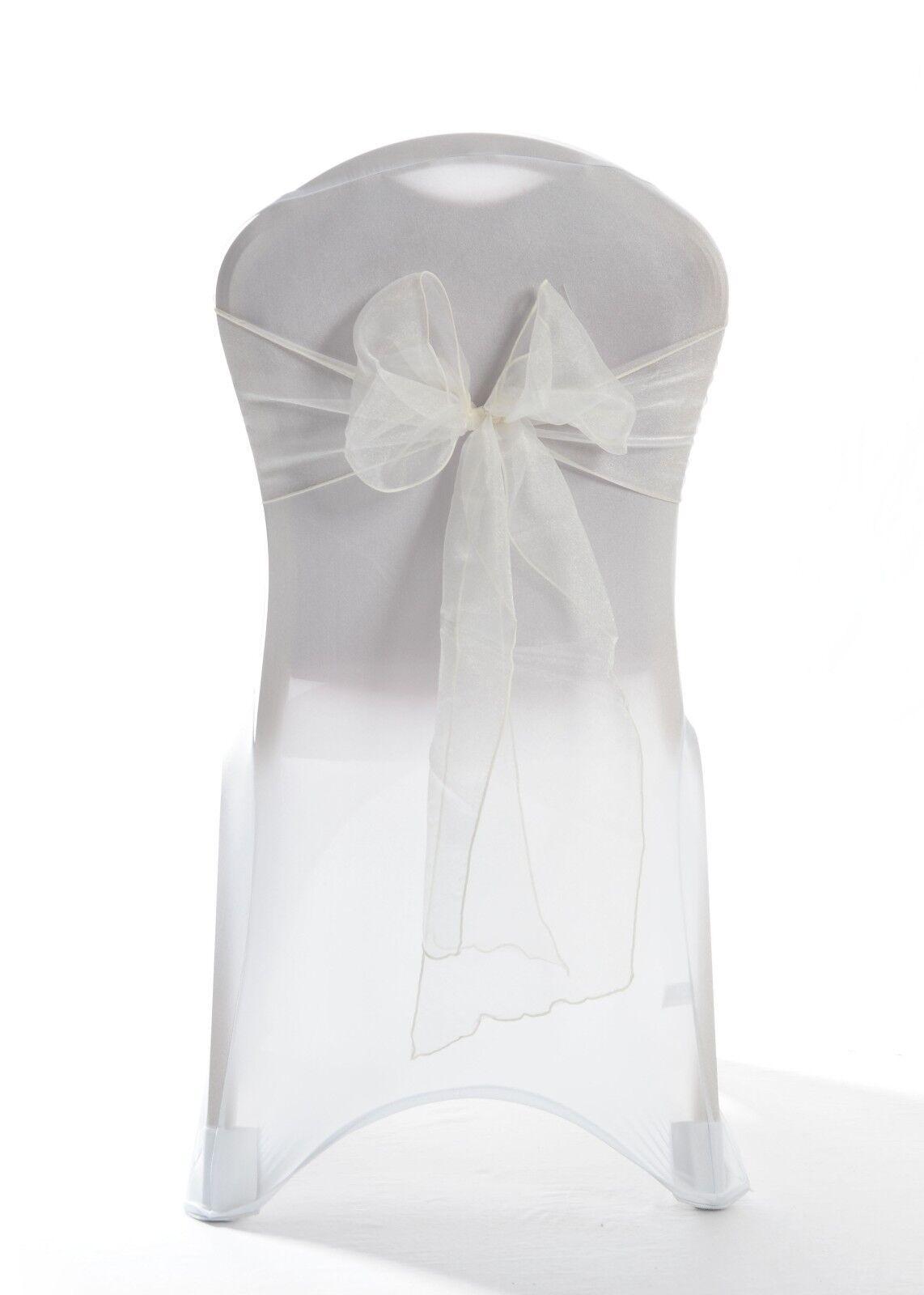 Ivory Organza Wedding Chair Sash 1,25,50 or 100 sashes