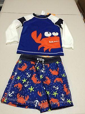 NWT Gymboree Boys Hot Dog Swimsuit Rash Guard trunk Shorts Set UPF 50 Many size