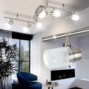 Details zu LED DESIGN Decken Lampe Wohnzimmer Leuchte Chrom Strahler 6-er  Spot Beleuchtung
