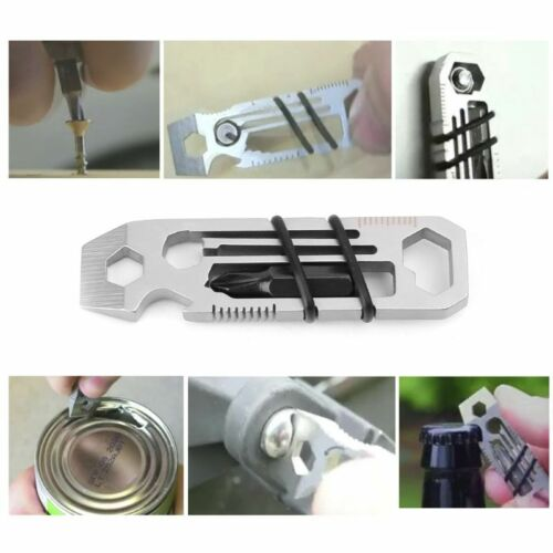 6 in1 Multitool Outdoor Camping Pocket EDC Tool Wrench Bottle Opener Screwdriver