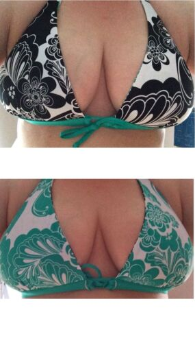BNWT RRP £12 NEXT Bikini top reversable green Black white size 8 10 12 14 16 18.