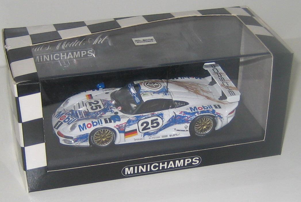 Minichamps 1 43rd 96 Porsche 911 GT1 pegado Boutsen Wollek Le Mans 1st en clase