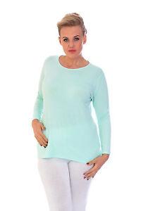 New-Ladies-Plus-Size-T-Shirt-Womens-Top-Plain-Long-Sleeve-Basic-Nouvelle