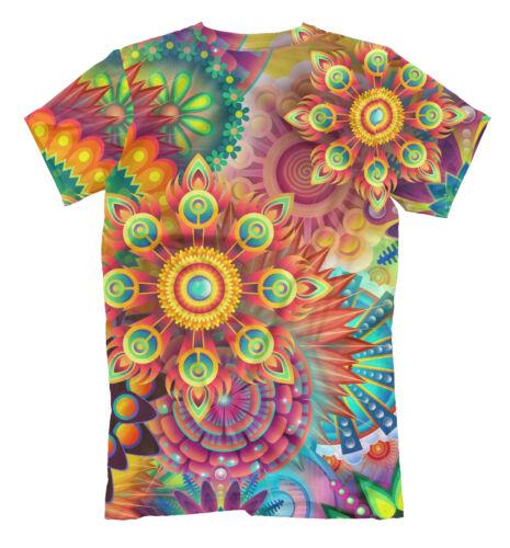 psy T-shirt hippie 3d print colorful mandala EDM dance psyhedelic Good mood