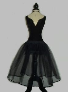 BLACK-NET-PETTICOAT-UK-Custom-Made-PROM-50s-VINTAGE-BALL-SKIRT-ROCKABILLY