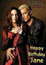 Spike James Marsters Buffy Vampire Slayer Birthday PERSONALISED Greeting Card