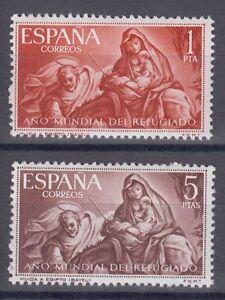 ESPANA-1961-NUEVOS-SIN-FIJASELLOS-MNH-SPAIN-EDIFIL-1326-27-ANO-DEL-REGUGIADO