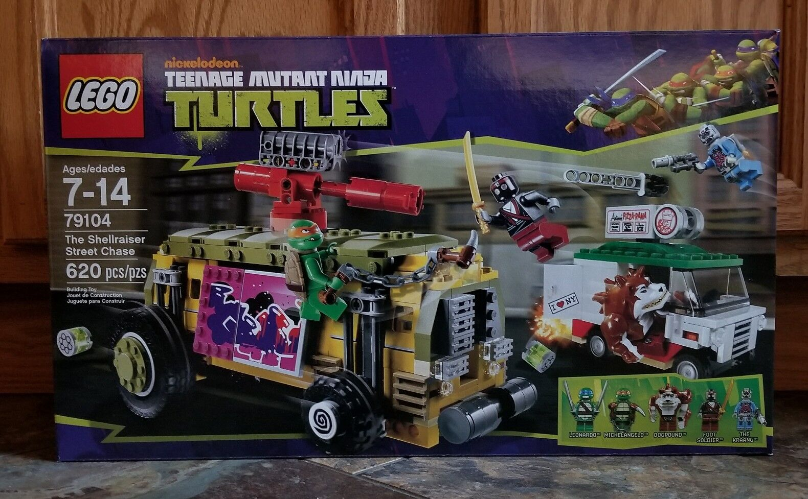 nuovo SEALED LEGO 79104 TMNT Ninja Turtles The Shellraiser Street  Chase Retirosso  edizione limitata a caldo