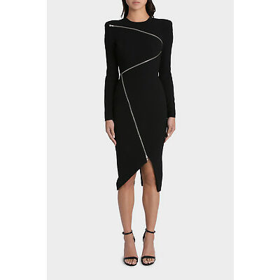 NEW Alex Perry Aislinn Lady Dress Black