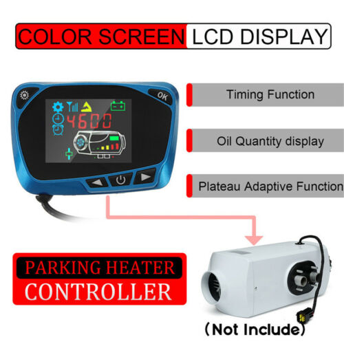 12//24V Parking Heater Controller Switch LCD Monitor Car Track Air Diesel Heater