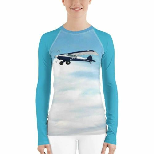 ADD YOUR AIRPLANE Details about  /Custom Women/'s Rash Guard