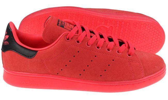 Neue adidas originals mens stan roten smith wildleder schocker roten stan sportschuhe s80032 93f4c7