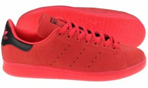 NEW ADIDAS ORIGINALS MENS STAN SMITH SUEDE SHOCKER RED ATHLETIC SHOES S80032