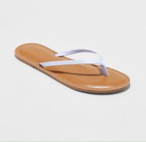 38773a28271f Universal Thread Rowen Lavender Thong Sandal Sz 10 Flip Flop Faux ...