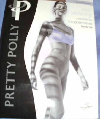 a3867423dc2 4 PAIR OF PRETTY POLLY COOL SLIMMING 10 DENIER CONTROL TOP TIGHTS BLACK 3  SIZES