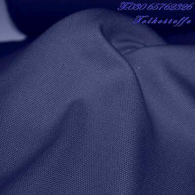 9,5m blau Canvas Baumwoll-Stoff Segeltuch vorgewaschen robust belastbar Meterwar