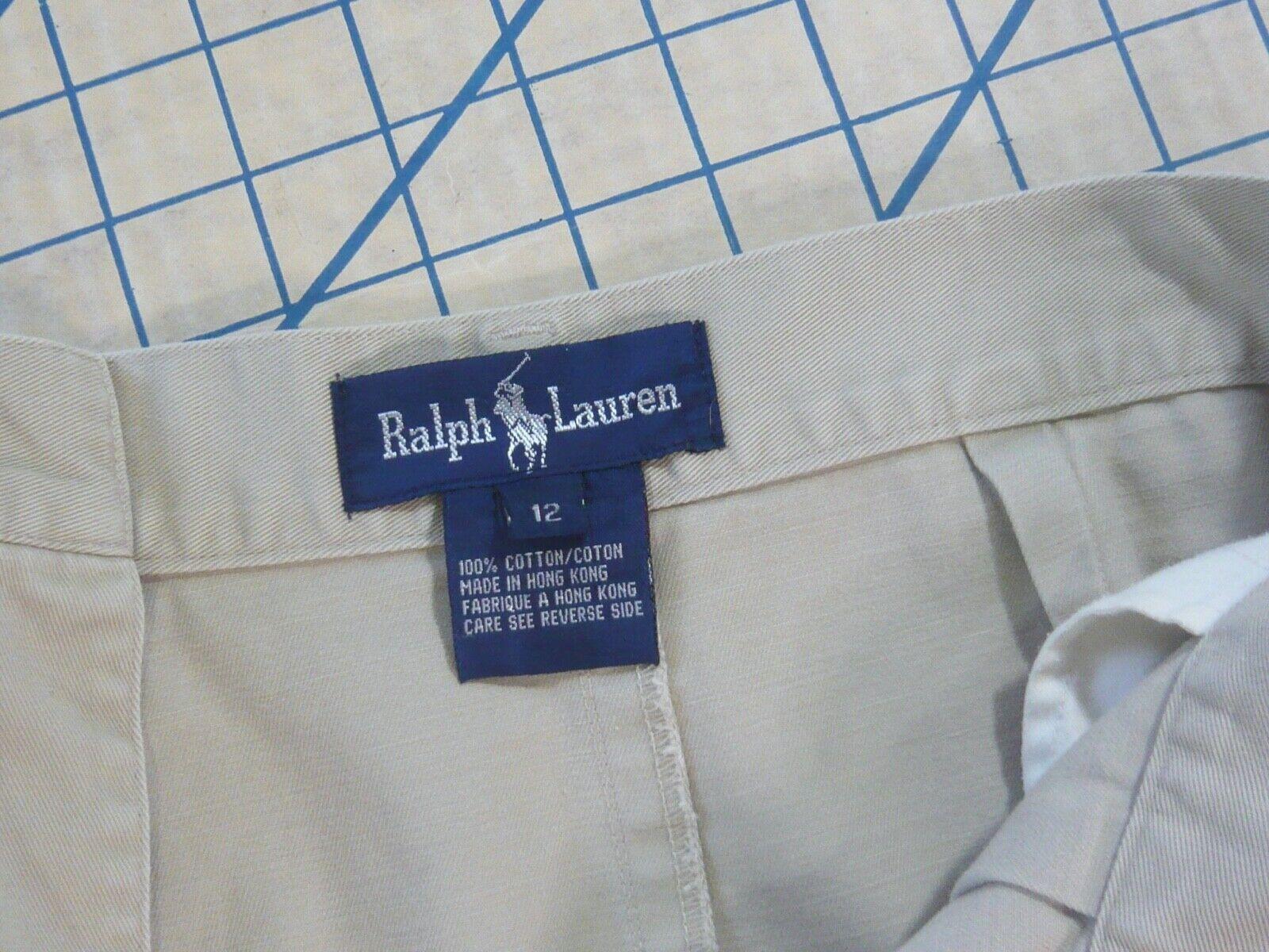 RALPH LAUREN vintage 70s 80s cotton khaki TROUSER… - image 11
