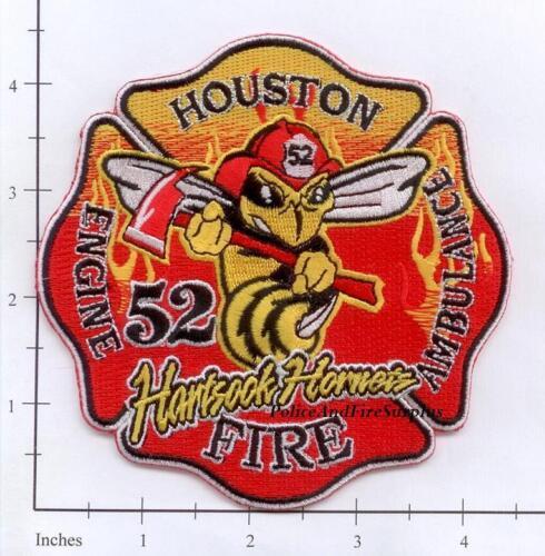 Hartsook Hornets Texas Houston Station 52 TX Fire Dept Patch