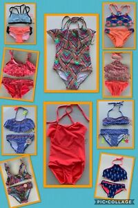 NWT-Gianni-Bini-GB-Girls-039-Swimsuit-Bikini-Top-amp-Bottoms-One-piece-Blue-Coral
