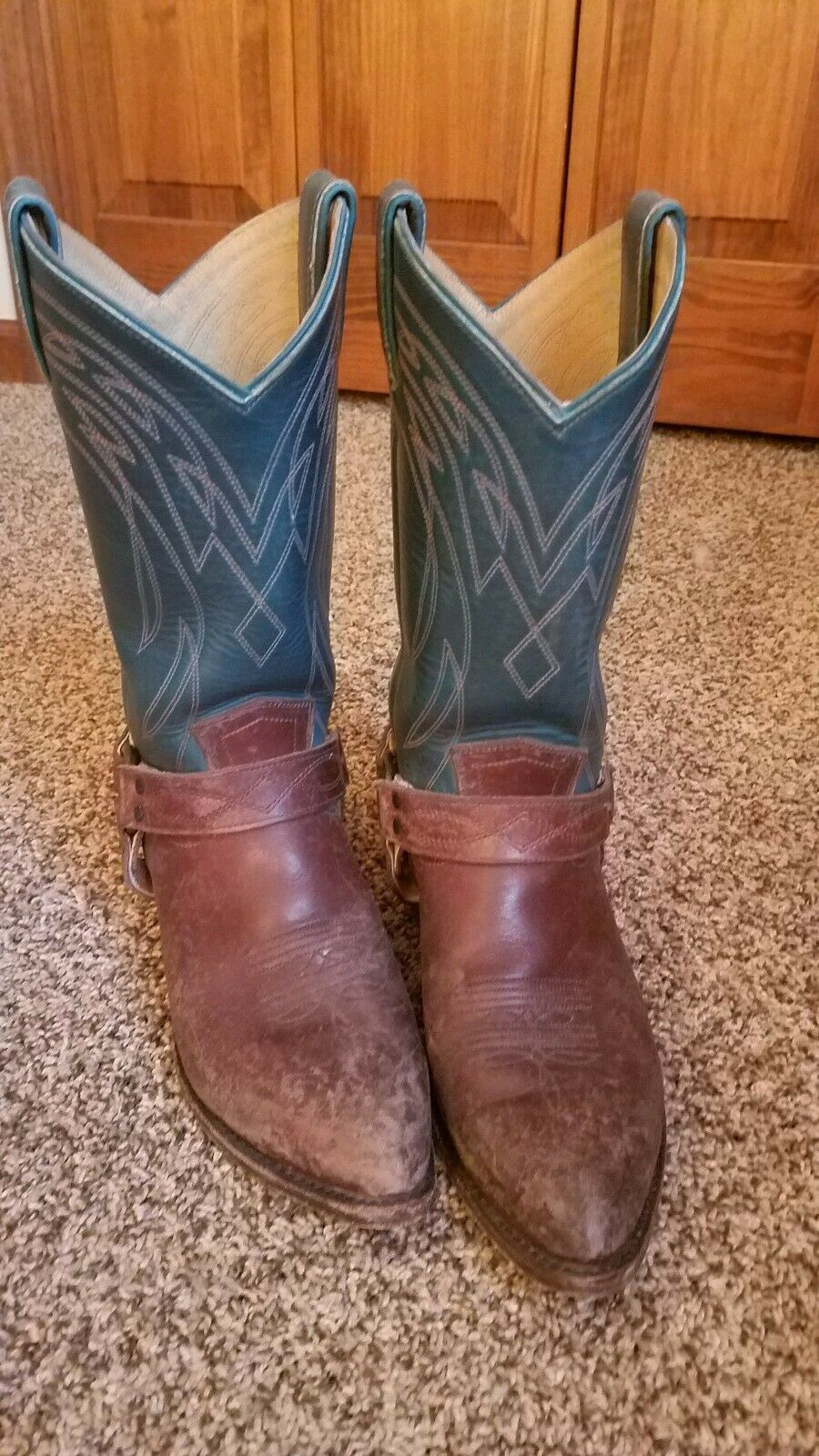 Frye Two Tone Billy Billy Billy Harness Boots 9 8e5a7f