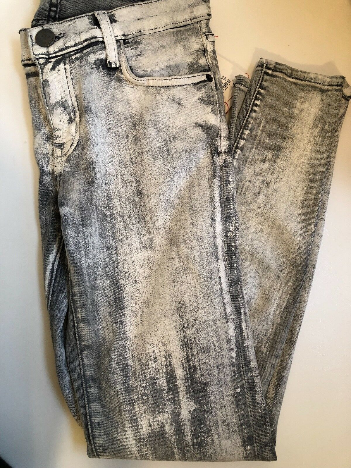 198 CURRENT  ELLIOTT THE COATED STILETTO SKINNY ANKLE JEAN NWT Sz 27