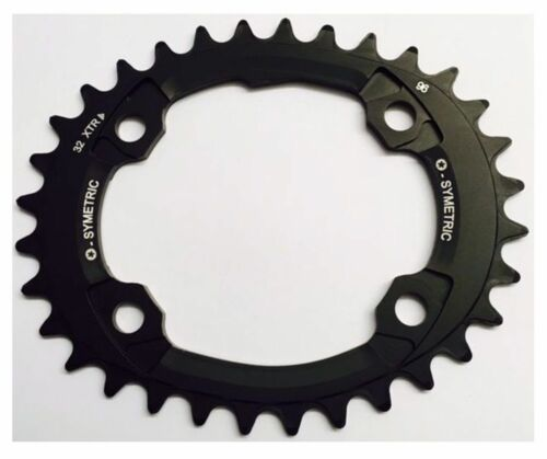 Osymetric Bicycle Chainring MTB Narrow Wide BCD96x4 34T Aluminum 7075-T6 Black