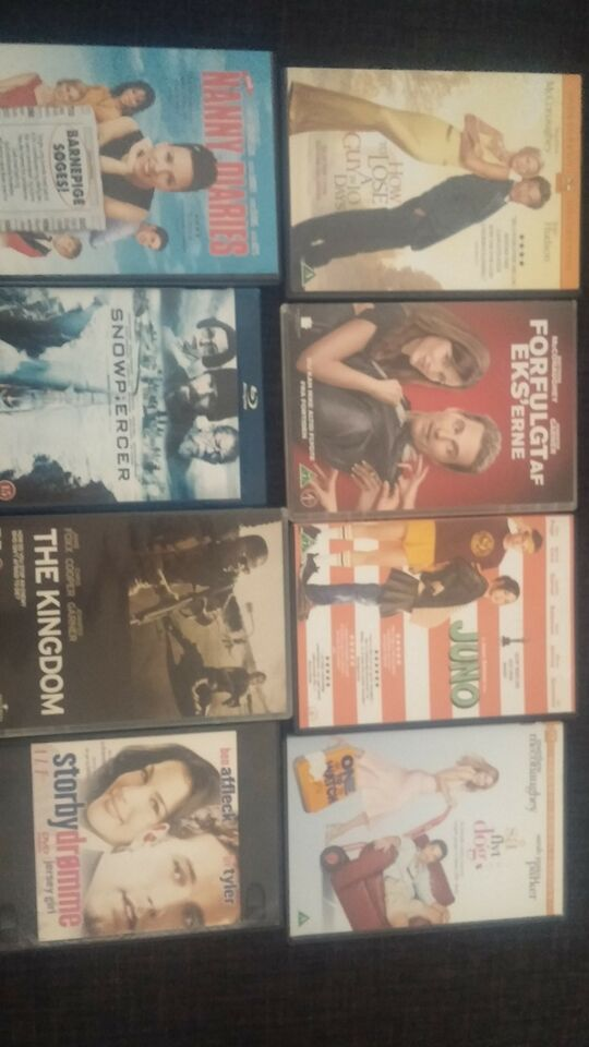 Mange forskellige titler, DVD, romantik