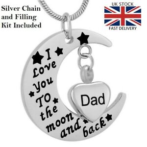 Dad-Moon-Heart-Keepsake-Cremation-Urn-Pendant-Ashes-Necklace-Funeral-Memorial