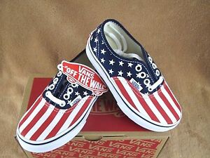 b19eeaa00c Image is loading NEW-VANS-AUTHENTIC-STARS-SHOE-PEACOAT-RED-WHITE-