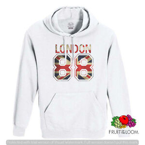 FELPA-CO-CAPPUCCIO-E-CON-TASCA-UNISEX-FRUIT-LONDON-88-LONDRA-88-BANDIERA-F039